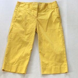 Jcrew yellow cotton favorite fit chino Capri Sz 4